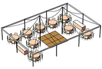 tent rental cad layout
