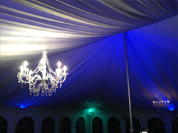 Chandalier Lighting for Tents