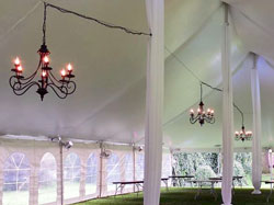 Tents with Chandalier Lighting