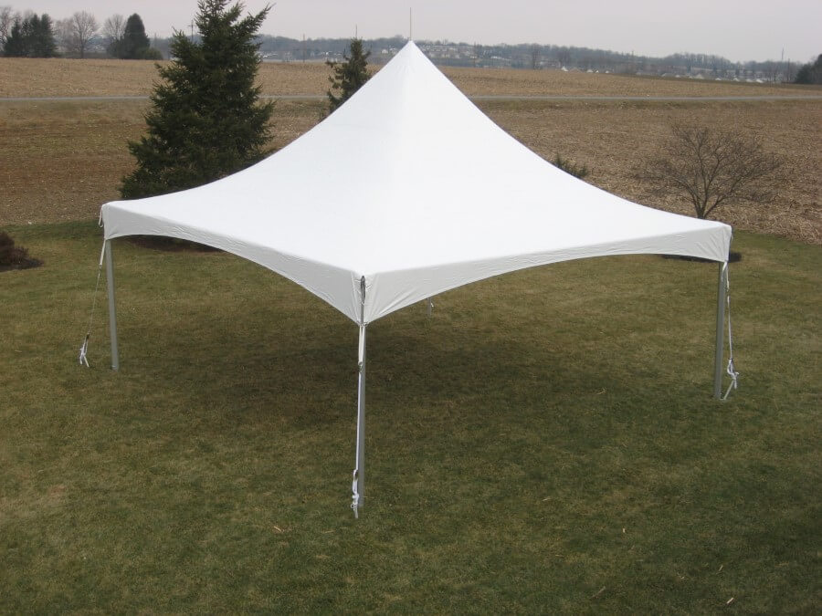 20'x20' Frame Tent in Field