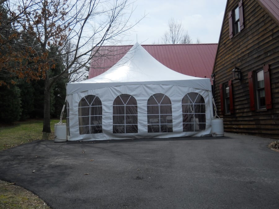 20'x20' Frame Tent Outside