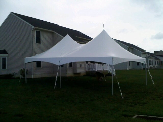 20'x30' Frame Tent Beside Apartments