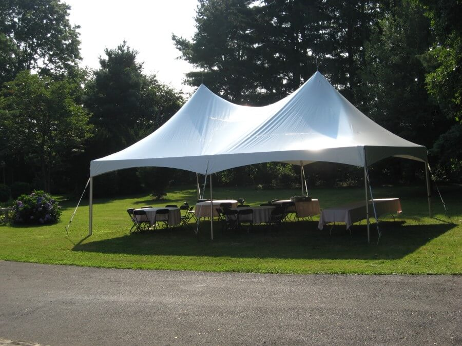 20'x30' Frame Tent Beside Road