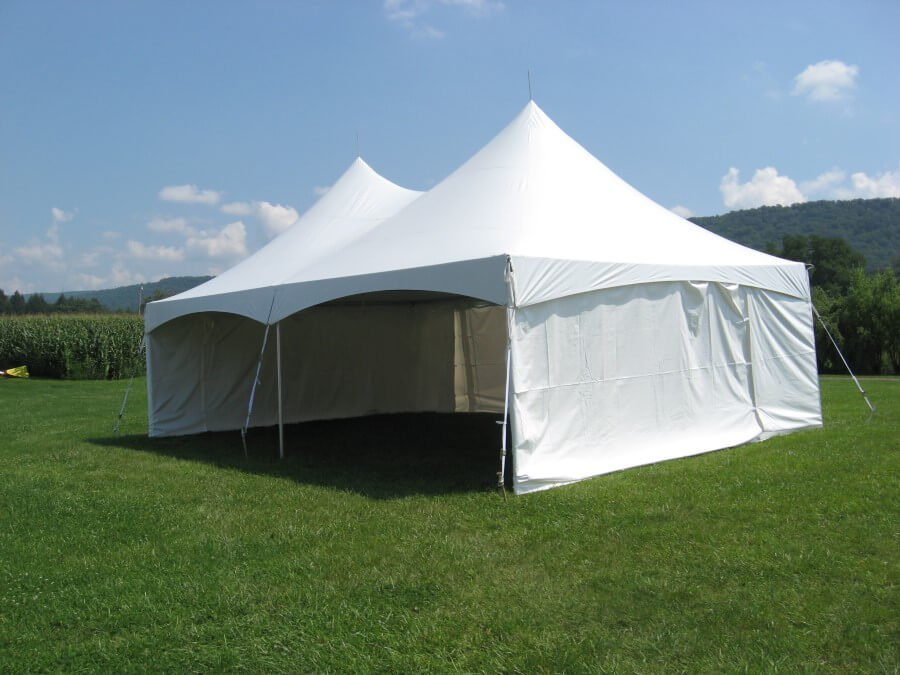 20'x30' Frame Tent Open Front