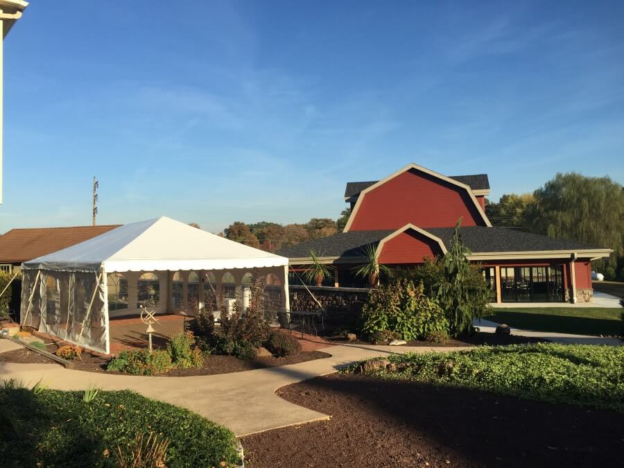 20'x30' Frame Tent by Barn