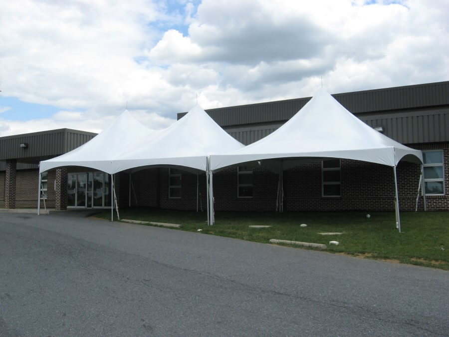 20'x50' Frame Tent Beside Road