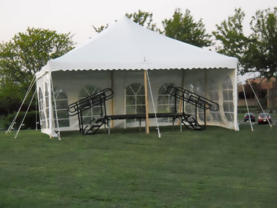 20'x20' Pole Tent at House