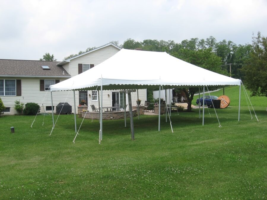 20'x30' Pole Tent at House