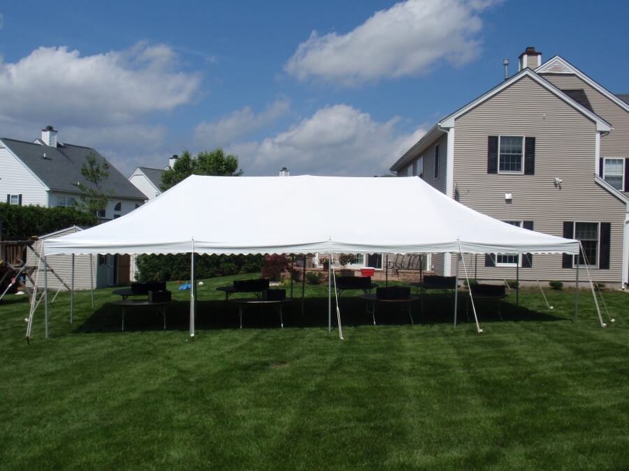 20'x40' Pole Tent at House