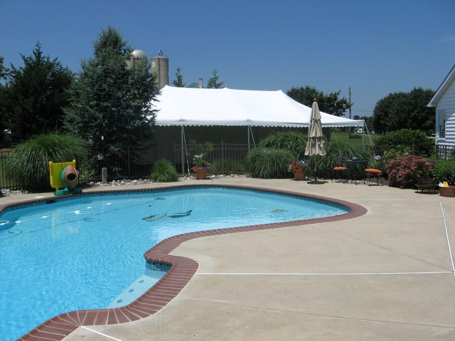 20'x40' Pole Tent at Pool