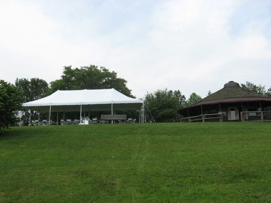 20'x40' Pole Tent at Rollercoaster