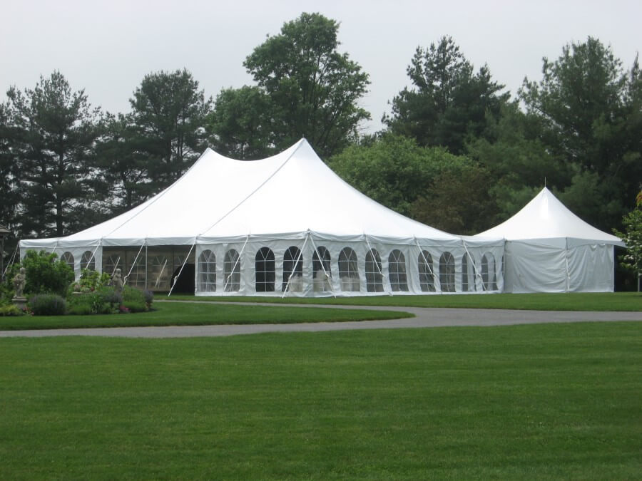 40u0027x60u0027 Pole Tent with 20u0027 x 20 Catering Tent & Beautiful Photos of Party Tents for Rent | Hess Tent Rental