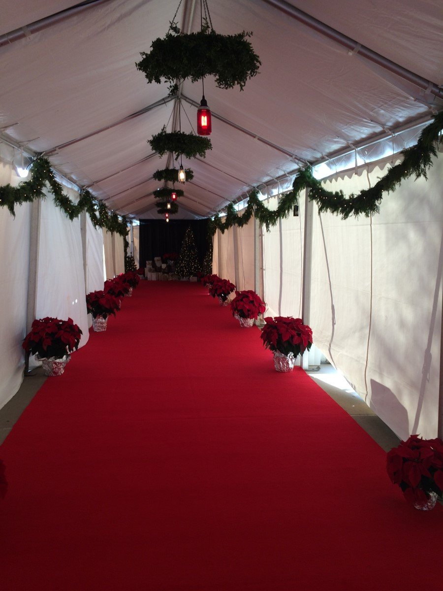Red Carpet Installed in a 10' x 70' Walkway
