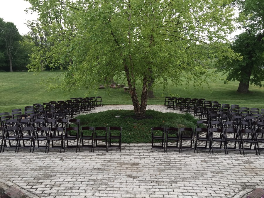 Mahogany Padded Resin Chairs Outdoors