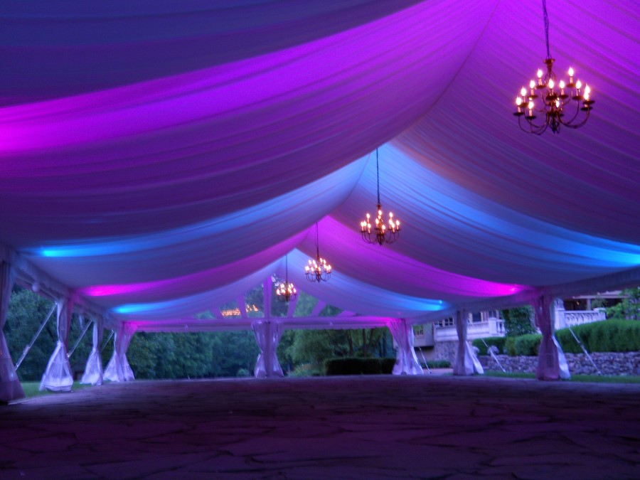 Pink and Blue LED Lighting with Fabric Liner
