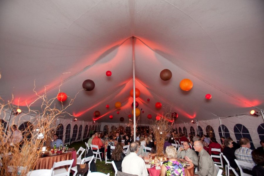 40' x 80' Wedding with LED lighting Streamers